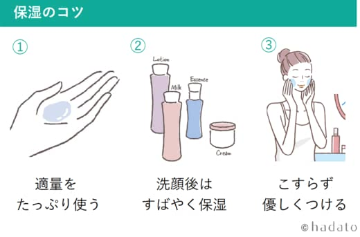 肌のターンオーバーによい保湿方法